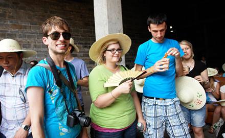 touristes étrangers en chine