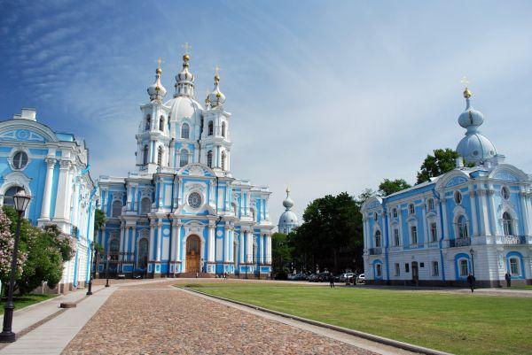 La Place de la cathédrale Smolny