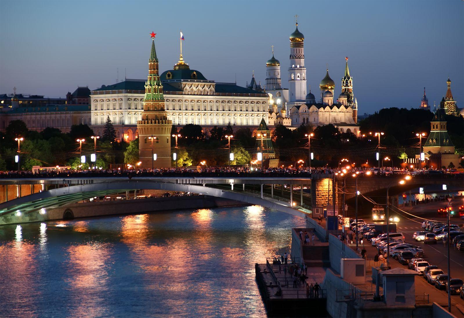 Kremlin la nuit Moscou